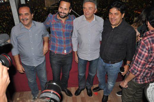 Jorge Gomes, Marcelo Calero, José Queiroz e Mendonça Filho na passagem de Calero por Caruaru. (Foto: Bruno Brandão/ Blog Thiago Lagos)