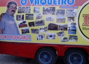 Reprodução/ Facebook Carro da Pitú Otoni Propaganda