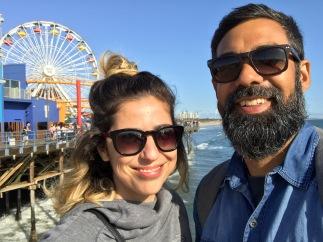 Carol e Franklin em Los Angeles